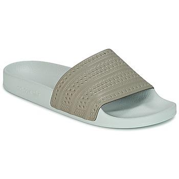 Schuhe Pantoletten adidas Originals ADILETTE Beige / Grün