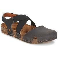 Schuhe Damen Sandalen / Sandaletten Art WE WALK Grau / Schwarz