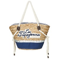 Taschen Damen Shopper / Einkaufstasche Les Tropéziennes par M Belarbi AUDENGE Beige / Marine