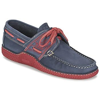Schuhe Herren Bootsschuhe TBS GLOBEK Blau / Rot