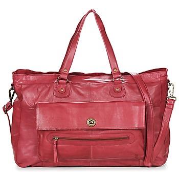 Taschen Damen Umhängetaschen Pieces TOTALLY ROYAL LEATHER TRAVEL BAG Bordeaux