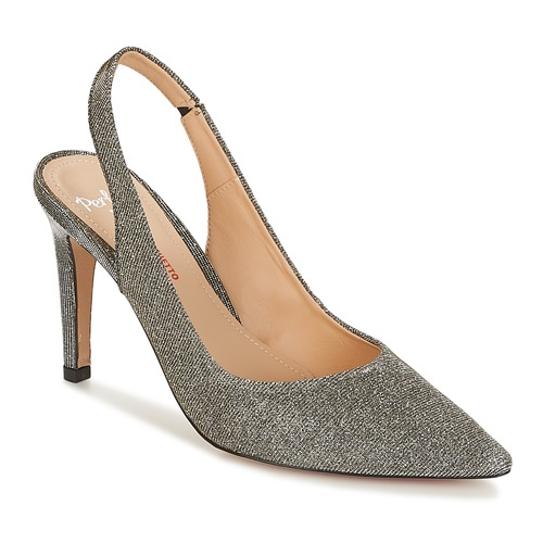 Perlato POLADINN Silbern  Schuhe Sandalen / Sandaletten Damen 90,30