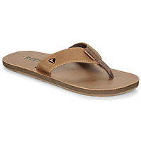 Schuhe Herren Zehensandalen Reef LEATHER SMOOTHY Bronze / Braun