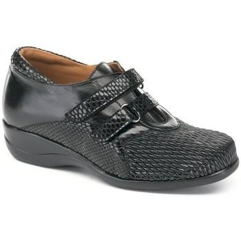 Schuhe Damen Derby-Schuhe Calzamedi S  DRAGÓN BESCHAFFENHEIT DOBLE SCHWARZ