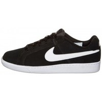Schuhe Herren Sneaker Low Nike COURT ROYALE SUEDE BLACK WHITE Noir