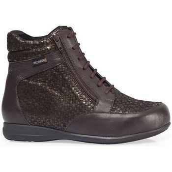 Schuhe Damen Sneaker High Calzamedi STIEFEL  DIABETICS DOPPEL SCALE ZIPPER W BRAUN