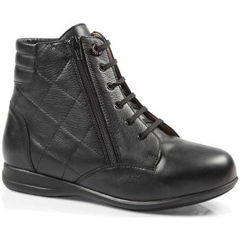 Schuhe Damen Sneaker High Calzamedi STIEFEL  DIABETICS DOPPEL SCALE ZIPPER W BLACK