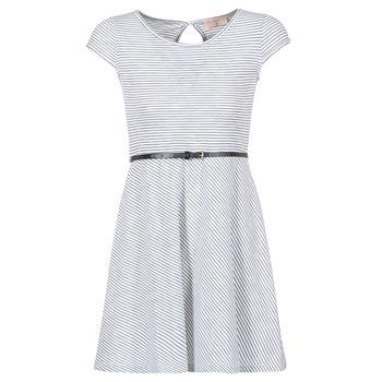 Kleidung Damen Kurze Kleider Moony Mood IKIMI Weiss / Marine