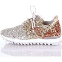 Schuhe Damen Sneaker Low Patrizia Pepe SV7049A2QL Sneakers Damen Silber  gold and copper Silber  gold and copper