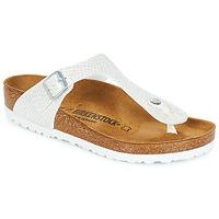 Schuhe Damen Zehensandalen Birkenstock GIZEH Weiss