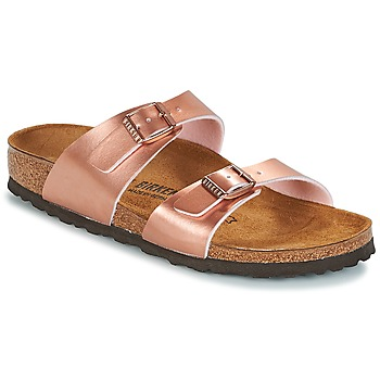 Schuhe Damen Pantoffel Birkenstock SYDNEY Rose / Gold
