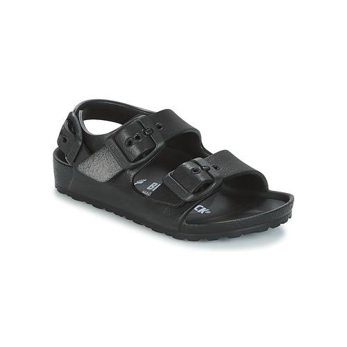Schuhe Kinder Sandalen / Sandaletten Birkenstock MILANO-EVA Schwarz