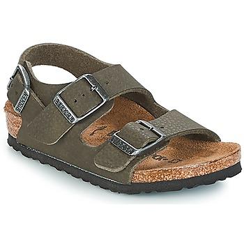Schuhe Jungen Sandalen / Sandaletten Birkenstock MILANO Grün