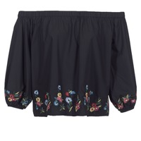Kleidung Damen Tops / Blusen Moony Mood IFITI Schwarz