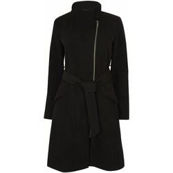 Kleidung Damen Parkas Anastasia Damen Zip Wintermantel mit Gürtel Black