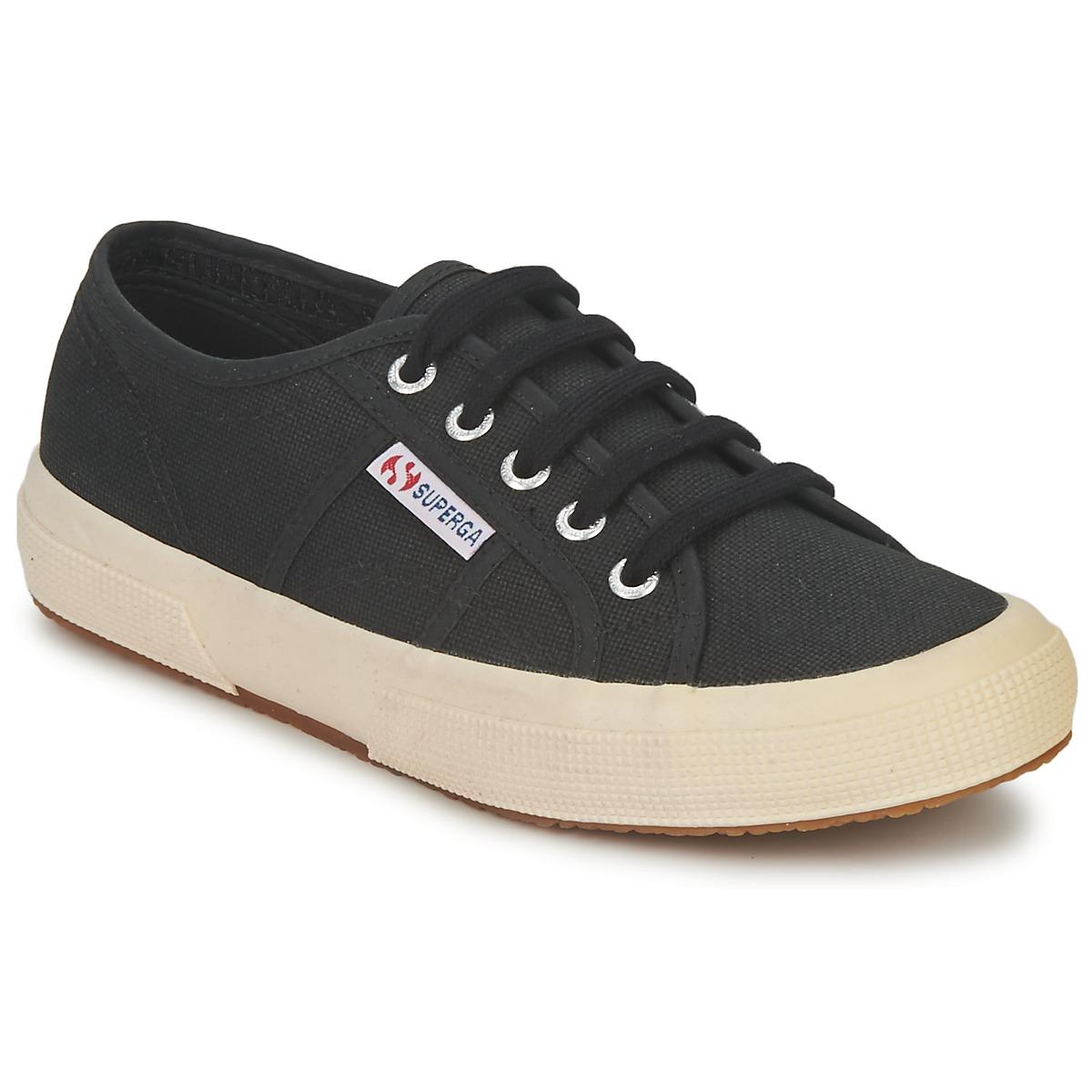 Superga 2750 CLASSIC Schwarz - Kostenloser Versand bei Spartoode ! - Schuhe Sneaker Low  47,99 €
