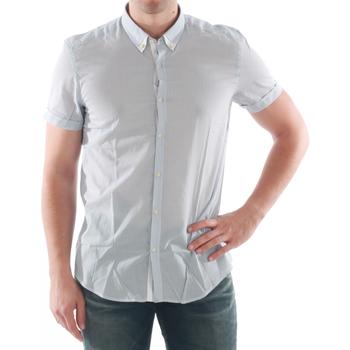 Kleidung Herren Kurzärmelige Hemden Antony Morato AMT05200 Azul claro
