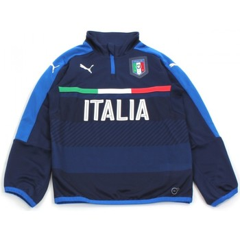 Kleidung Kinder Trainingsjacken Puma FIGC 1/4 ZIP TRAINING TOP ENFANT Bleu
