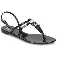 Schuhe Damen Sandalen / Sandaletten Karl Lagerfeld JELLY KARL ICONIK Schwarz