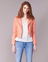 Kleidung Damen Lederjacken / Kunstlederjacken Oakwood YOKO Korallenrot