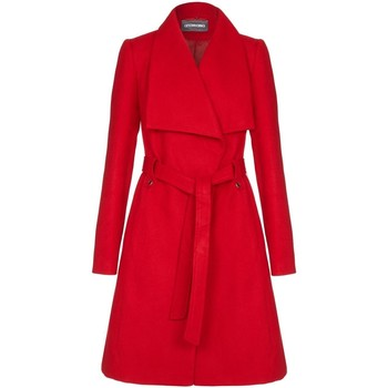 Kleidung Damen Trenchcoats Anastasia - Damen Wintermantel G�rtel Wrap Red