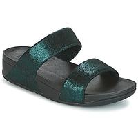 Schuhe Damen Pantoffel FitFlop SLIDE Grün
