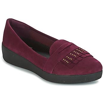 Schuhe Damen Ballerinas FitFlop LOAFER Violett
