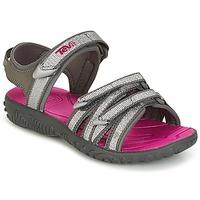 Schuhe Mädchen Sportliche Sandalen Teva TIRRA Silbern / Magenta