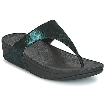Schuhe Damen Zehensandalen FitFlop SHIMMY SUEDE TOE-POST Grün