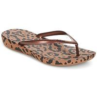 Schuhe Damen Zehensandalen FitFlop IQUSHION ERGONOMIC FLIP-FLOPS Bronze / Leopard