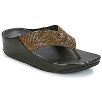 Schuhe Damen Zehensandalen FitFlop CRYSTALL Olive