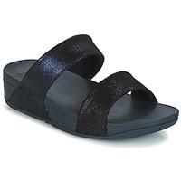 Schuhe Damen Pantoffel FitFlop SHIMMY SUEDE SLIDE Blau