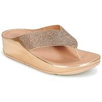 Schuhe Damen Zehensandalen FitFlop CRYSTALL Rose / Gold