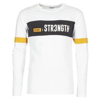 Kleidung Herren T-Shirts Jack & Jones JCOACE-TEE-LS-CREW-NECK Weiss