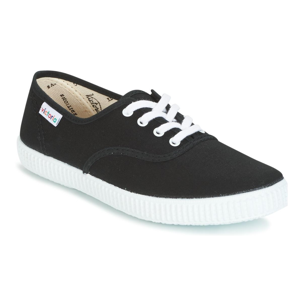 Victoria INGLESA LONA Schwarz - Kostenloser Versand bei Spartoode ! - Schuhe Sneaker Low  26,10 €