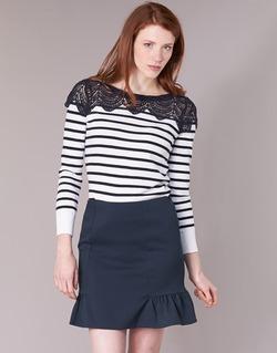Kleidung Damen Pullover Naf Naf MLACY Naturfarben / Marine