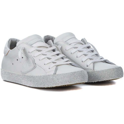 Philippe Sneakers Model Paris Sneakers Philippe Paris in Leder Weiss und Glitter Weiss - Schuhe Sneaker Low  236 450a07