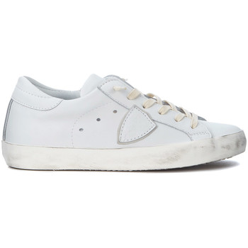 Schuhe Sneaker Low Philippe Model Paris Sneakers Paris in Leder Weiss Weiss