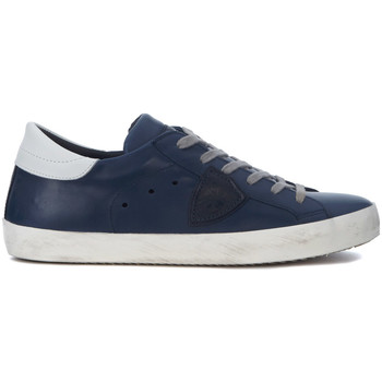 Schuhe Sneaker Low Philippe Model Paris Sneakers Paris in Leder Blau Blue