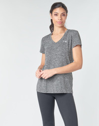 Kleidung Damen T-Shirts Under Armour TECH SSV - TWIST Schwarz / Grau