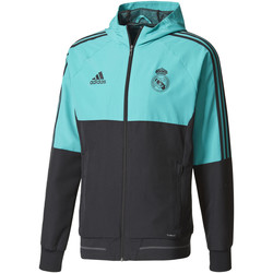 Kleidung Herren Trainingsjacken adidas Performance Real Madrid Präsentationsjacke Türkis / Türkis