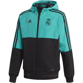 Kleidung Kinder Trainingsjacken adidas Performance Real Madrid Präsentationsjacke Türkis / Türkis