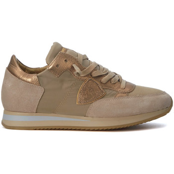 Schuhe Sneaker Low Philippe Model Paris Sneakers Tropez Mondial Beige und Gold Gold