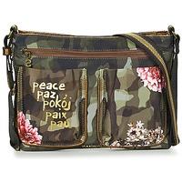 Taschen Damen Handtasche Desigual BOLS_BAQUEIRA MILITAR FLORES Schwarz / Multifarben