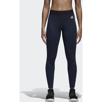 Kleidung Damen Leggings adidas Performance Essentials 3-Streifen Tight Blau / Weiß
