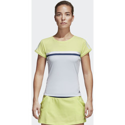 Kleidung Damen T-Shirts adidas Performance Club T-Shirt Gelb / Blau