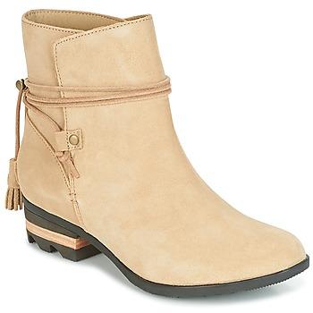 Schuhe Damen Boots Sorel Farah Short Beige