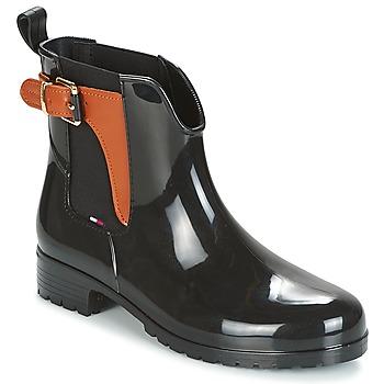 Schuhe Damen Gummistiefel Tommy Hilfiger OXLEY Schwarz