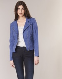 Kleidung Damen Lederjacken / Kunstlederjacken Only STEADY Blau