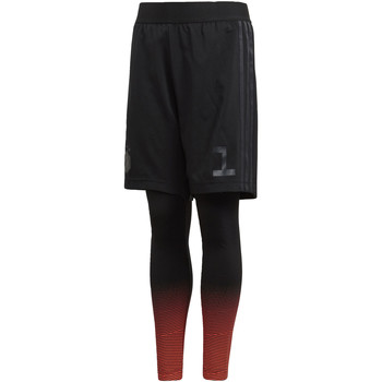 Kleidung Jungen Shorts / Bermudas adidas Performance Star Wars Shorts mit Tight Schwarz / Grau / Orange